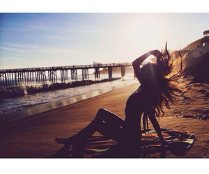 beach, beach goals, and hipster image