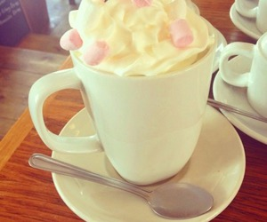 coffee, marshmallow, and yummy image
