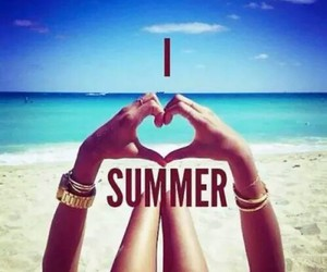 summer, love, and beach image