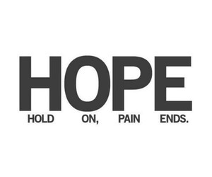 hope, pain, and quote image