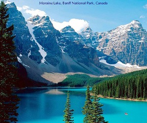 lake in the mountains image