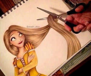 disney, draw, and tangled image