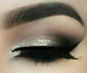 beautiful, black, and eyebrows image