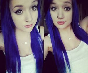 alt girl, blue hair, and colored hair image
