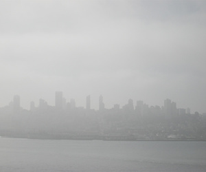 city, pale, and skyline image