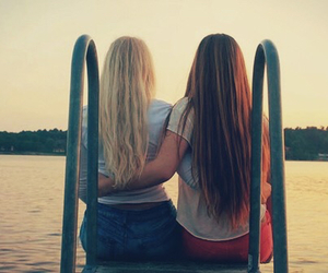 beach, best friends, and blonde image