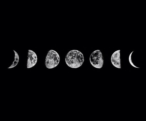 moon, scenery, and phase image