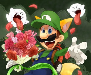 boo, luigi, and luigi's mansion image