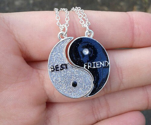 bff, necklace, and love image