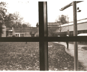black and white, window, and focus image