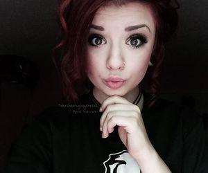 black hair, dyed hair, and grunge image