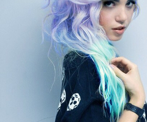 hair, blue, and purple image