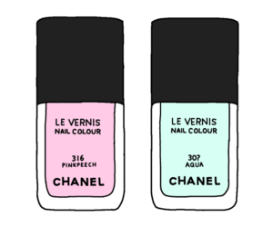 chanel, nails, and drawing image