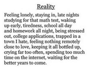 reality and lonely image