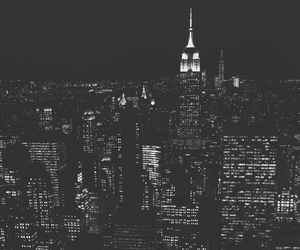 black, city, and light image
