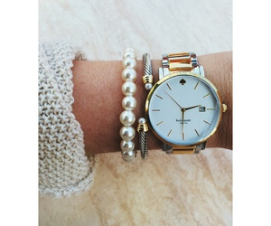 fashion, bracelet, and pearls image