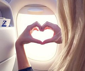 heart, blonde, and girl image