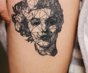 tattoo, Tattoos, and marylinmonroe image