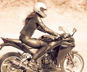 girl and motorcycle image