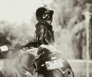 girl, sexy, and motorcycle image