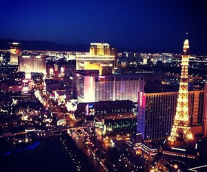 light, Las Vegas, and night image