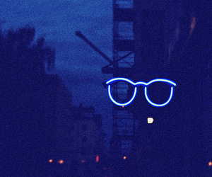 blue, glasses, and hipster image