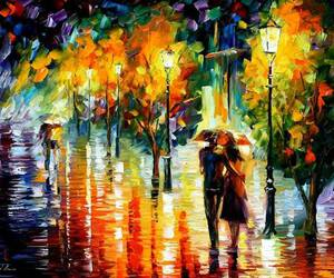 couple, painting, and love image