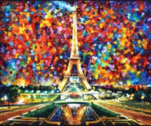 paris, art, and painting image