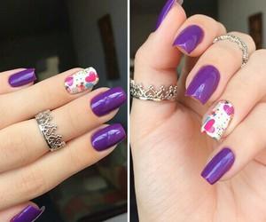 beautiful, nails, and rings image