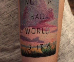landscape, tattoo, and quote image