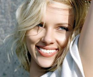 Scarlett Johansson, beautiful, and smile image