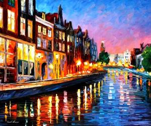 art, city, and lights image