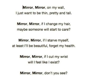 disappointed, mirror, and poem image