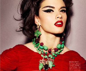 fashion, makeup, and red image