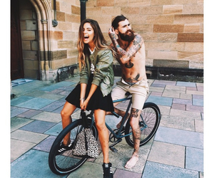 friends, bike, and couple image