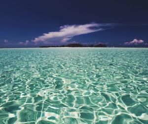 sea, beach, and Island image