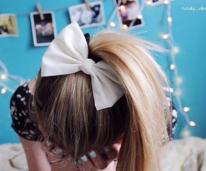 hair, tumblr, and bow image