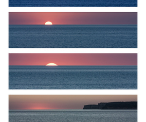 sun, sunset, and sea image