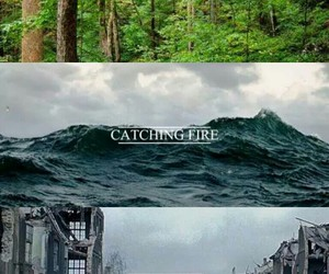 the hunger games, mockingjay, and catching fire image