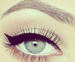 eye, makeup, and eyes image