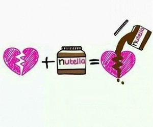 nutella, heart, and broken heart image