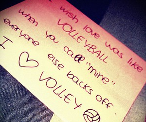 voleibol, love, and amor image