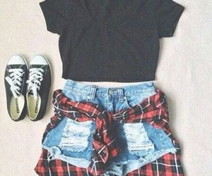 clothes, girly, and plaid image