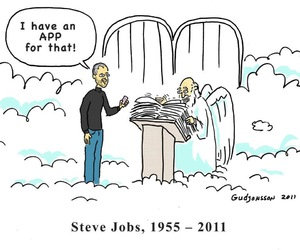 Steve Jobs and apple image