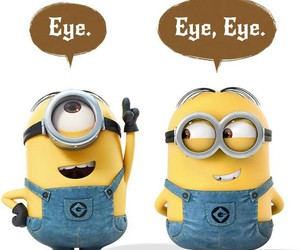 minions, funny, and eye image