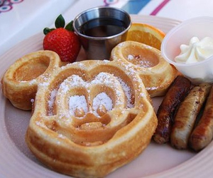 breakfast, mickey, and strawberry image