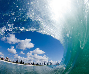photography, sky, and wave image