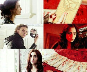 clary fray, lily collins, and couple image
