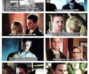 arrow, olicity, and Felicity image