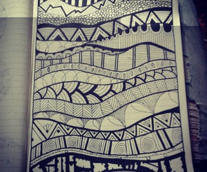 art, doodle, and notebook image